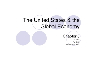 The United States & the Global Economy Chapter 5 Eco 2013
