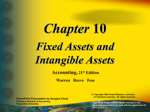Chapter Fixed Assets and Intangible Assets Accounting,