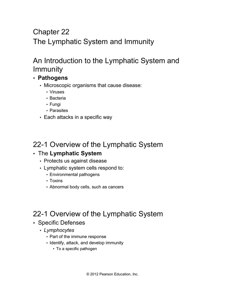 Chapter 22 The Lymphatic System And Immunity