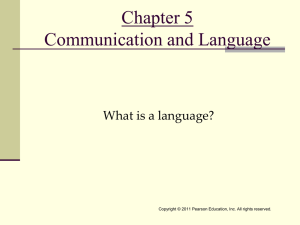 Chapter 5 Communication and Language What is a language?