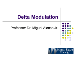 Delta Modulation Professor: Dr. Miguel Alonso Jr.