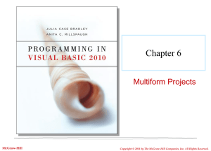Chapter 6 Multiform Projects McGraw-Hill