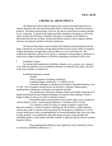 FILE: JICH CHEMICAL ABUSE POLICY
