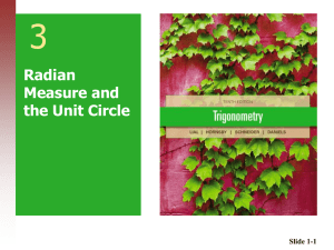 3 Radian Measure and the Unit Circle