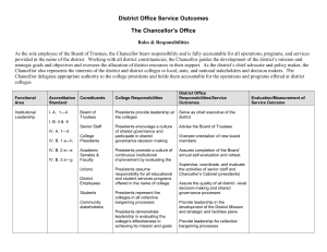 District Office Service Outcomes The Chancellor's Office