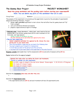 the gummy bear project project worksheet