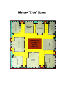 "History ""Clue"" Game"