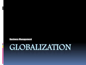 GLOBALIZATION Business Management