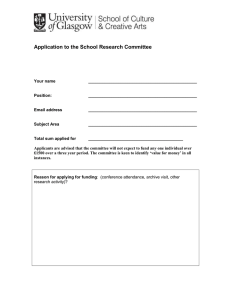 Application to the School Research Committee