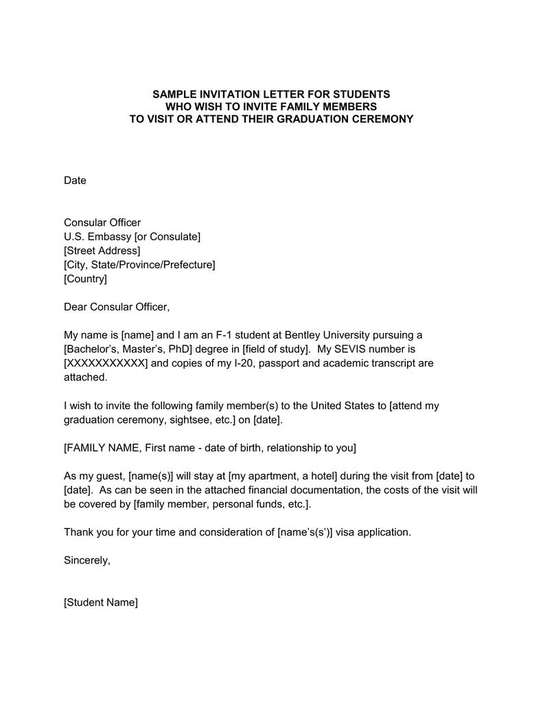 Sample Invitation Letter For Us Tourist Visa from s2.studylib.net