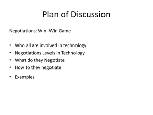 Plan of Discussion