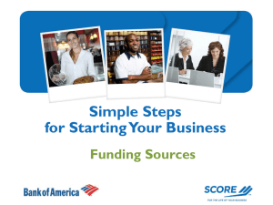 Simple Steps for Starting Your Business Funding Sources