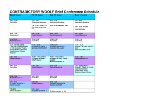 CONTRADICTORY WOOLF Brief Conference Schedule Thu 9 June Fri 10 June