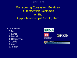 Considering Ecosystem Services in Restoration Decisions on the Upper Mississippi River System