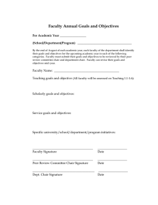 Faculty Annual Goals and Objectives For Academic Year _________________