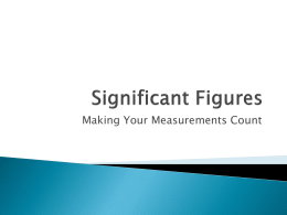 Making Your Measurements Count
