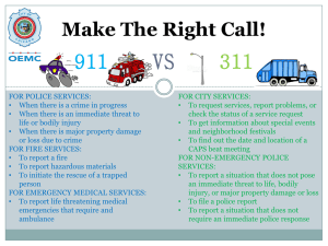 911 VS 311 Make The Right Call!