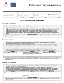 annual performance appraisal report guidelines