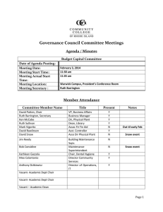 Governance Council Committee Meetings Agenda / Minutes