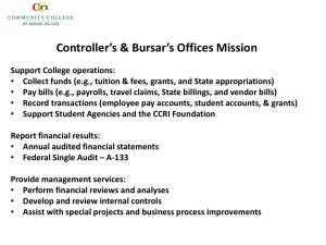 Controller's & Bursar's Offices Mission
