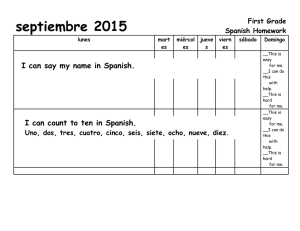 septiembre 2015 I can say my name in Spanish. First Grade