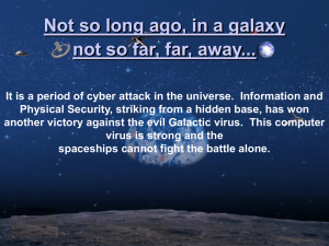 Not so long ago, in a galaxy