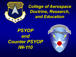 PSYOP and Counter PSYOP IW-110