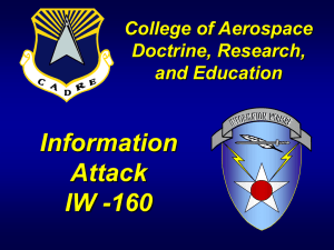 Information Attack IW -160 College of Aerospace