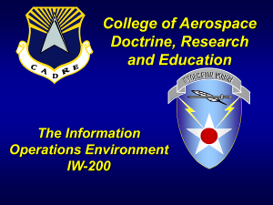 College of Aerospace Doctrine, Research and Education The Information
