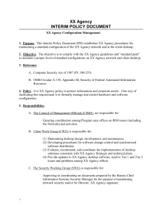 XX Agency INTERIM POLICY DOCUMENT