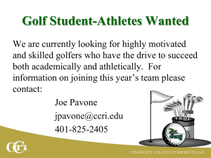 Golf Student-Athletes Wanted