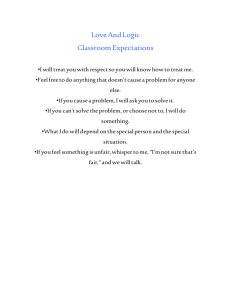 Love And Logic Classroom Expectations
