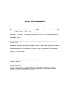 Release of Information Form