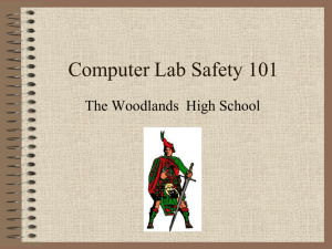 Computer Lab Safety 101 The Woodlands  High School