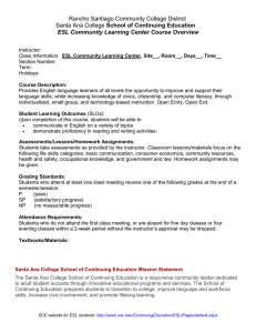 Rancho Santiago Community College District School of Continuing Education
