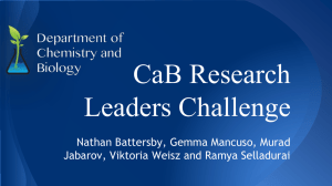 CaB Research Leaders Challenge Nathan Battersby, Gemma Mancuso, Murad