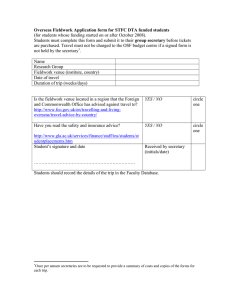 Overseas Fieldwork Application form for STFC DTA funded students group secretary