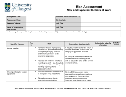 Hse: new and expectant mothers risk assessment action flowchart.