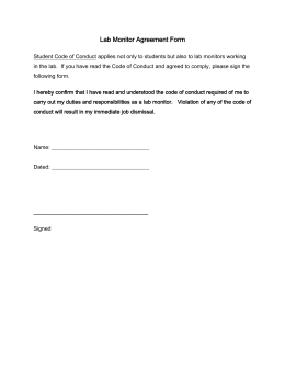 Lab Monitor Agreement Form
