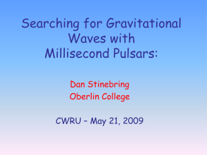 Searching for Gravitational Waves with Millisecond Pulsars: Dan Stinebring