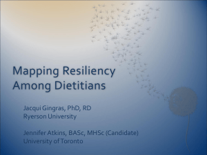 Mapping Resiliency Among Dietitians