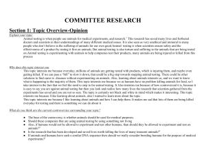 COMMITTEE RESEARCH Section 1: