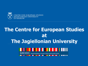 The Centre for European Studies at The Jagiellonian University