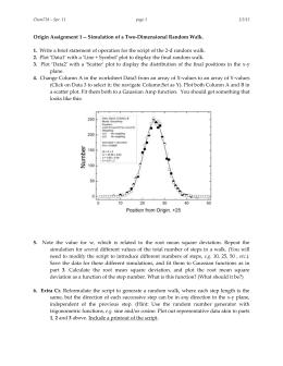 Origin Assignment 1 -- Simulation of a Two-Dimensional Random Walk. 1. 2. 3.