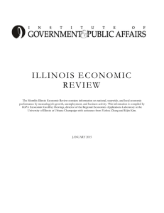 ILLINOIS E CONOMIC REVIEW