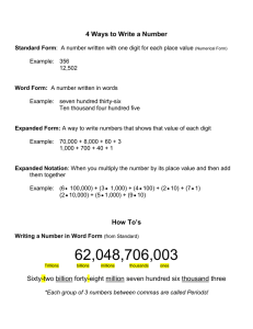 4 Ways to Write a Number