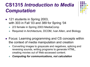 Introduction to Media Computation
