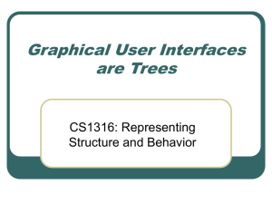 Graphical User Interfaces are Trees CS1316: Representing Structure and Behavior
