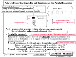 Network Properties, Scalability and Requirements For Parallel Processing