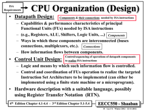 CPU Organization (Design) Datapath Design: